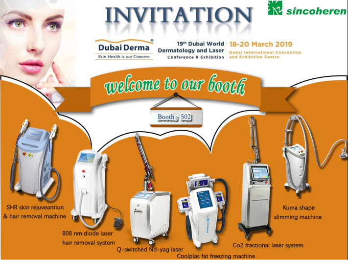 Welcome to Sincoheren Booth at Dubai Derma 2019