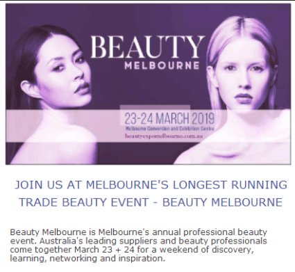 Welcome to Sincoheren Booth at Beauty Melbourne 2019
