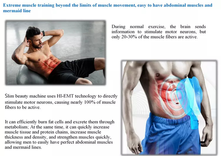 Factory Price Build Muscle Burn Fat High-Intensity Focused Electromagnetic Muscle Stimulation Device Hifem