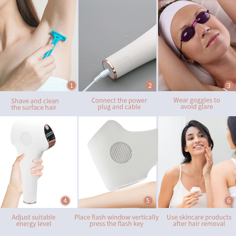 Handset body hair removal ipl machine facial  laser ipl permanently hair removal laser from home